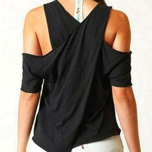 NWT Free People Cold Shoulder Tee sport top